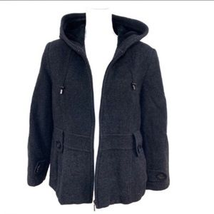 St Johns Bay women's wool cashmere blend coat